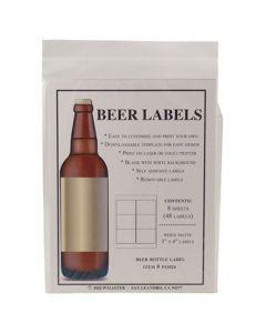 Beer Bottle Labels 48 count