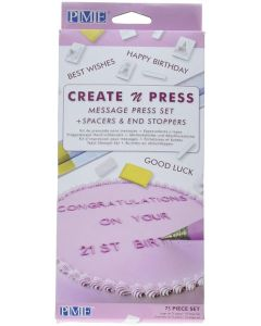 Create a Message Press Set for Cakes